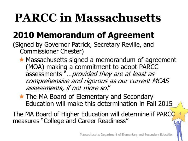 PARCC in Massachusetts