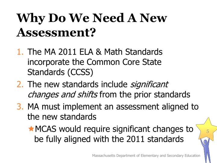 Why Do We Need A New Assessment?
