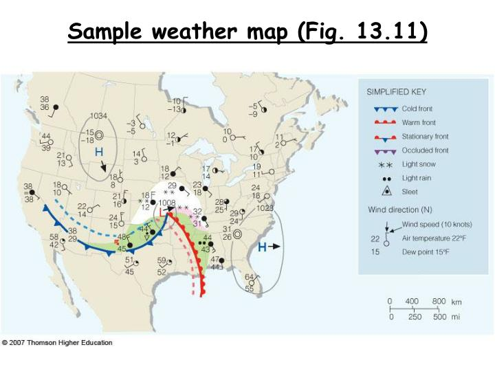 Sample weather map (Fig. 13.11)
