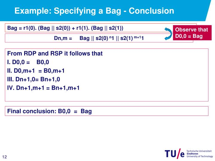 Example: Specifying a Bag - Conclusion