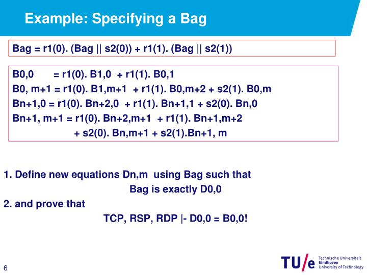 Example: Specifying a Bag