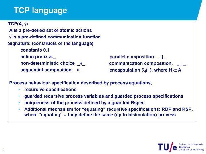 TCP language