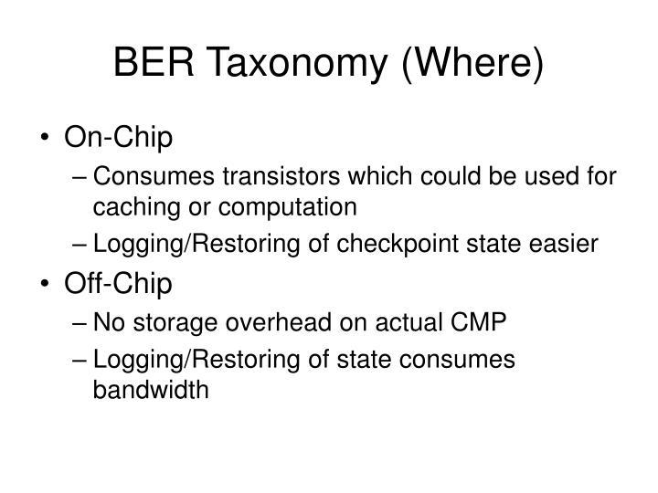 BER Taxonomy (Where)