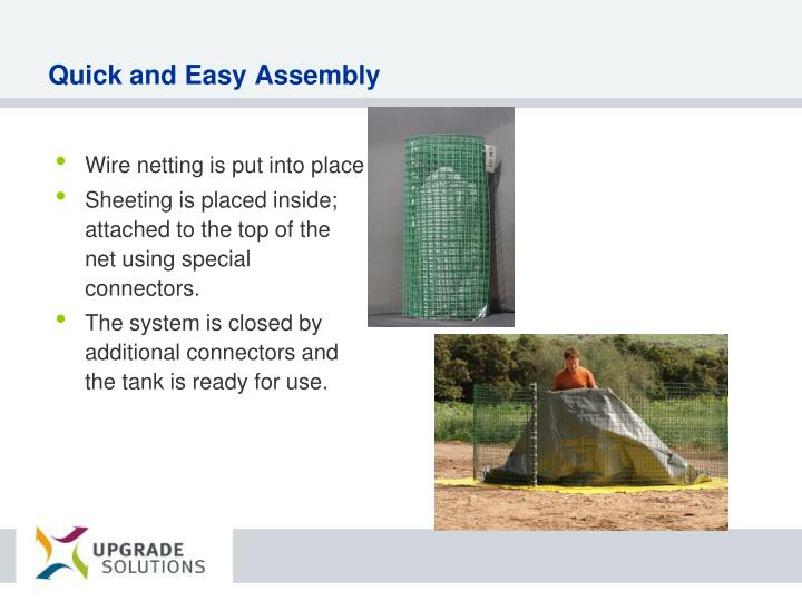Quick and Easy Assembly