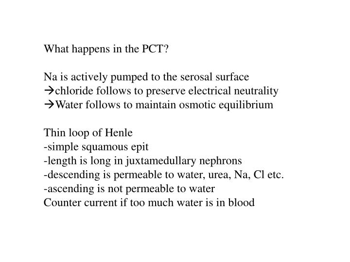 What happens in the PCT?