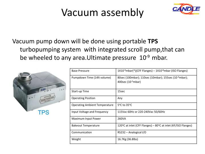 Vacuum assembly