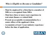 who is eligible to become a candidate