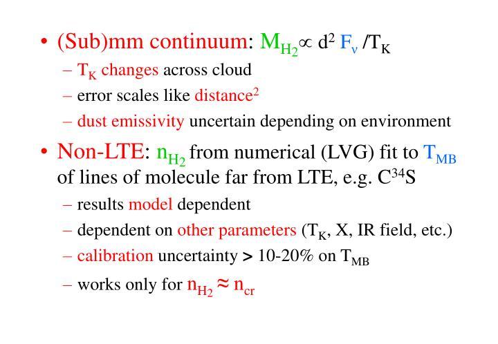 (Sub)mm continuum