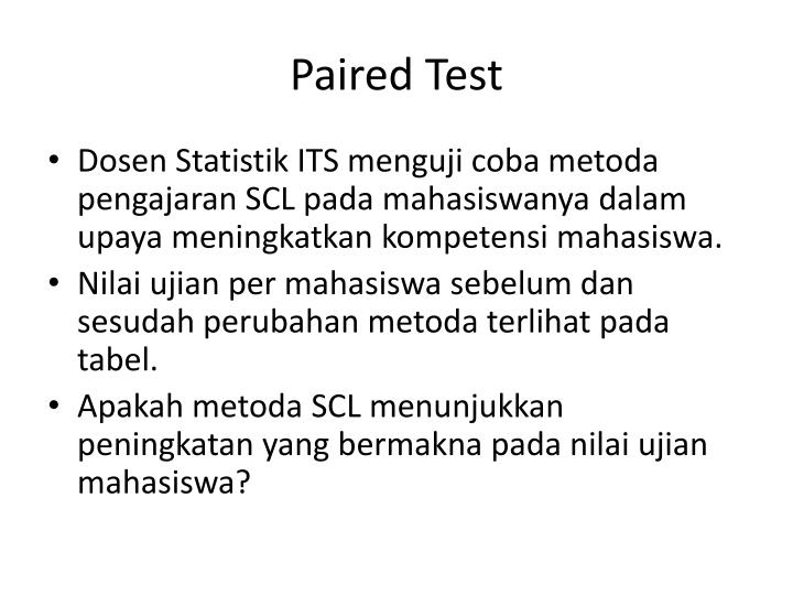 Paired Test