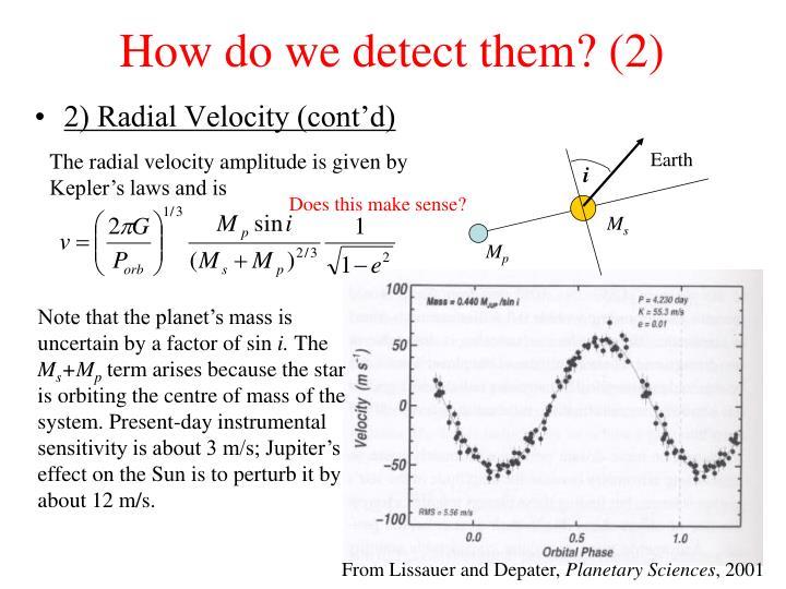How do we detect them? (2)