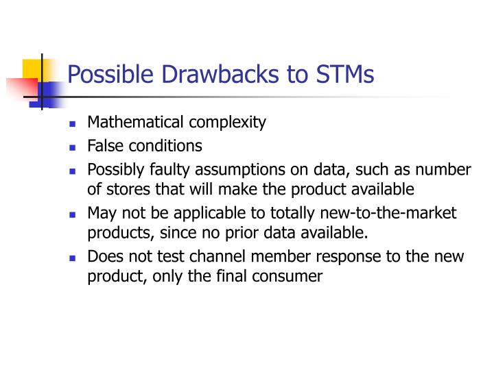 Possible Drawbacks to STMs