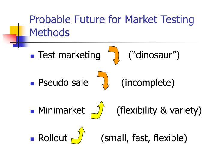 Probable Future for Market Testing Methods