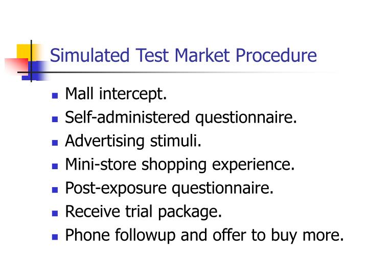 Simulated Test Market Procedure