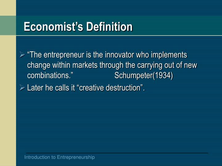 Economist's Definition