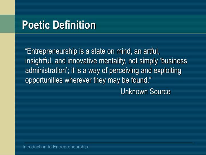 Poetic Definition