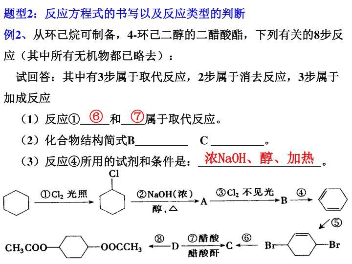 题型2:反应方程式的书写以及反应类型的判断