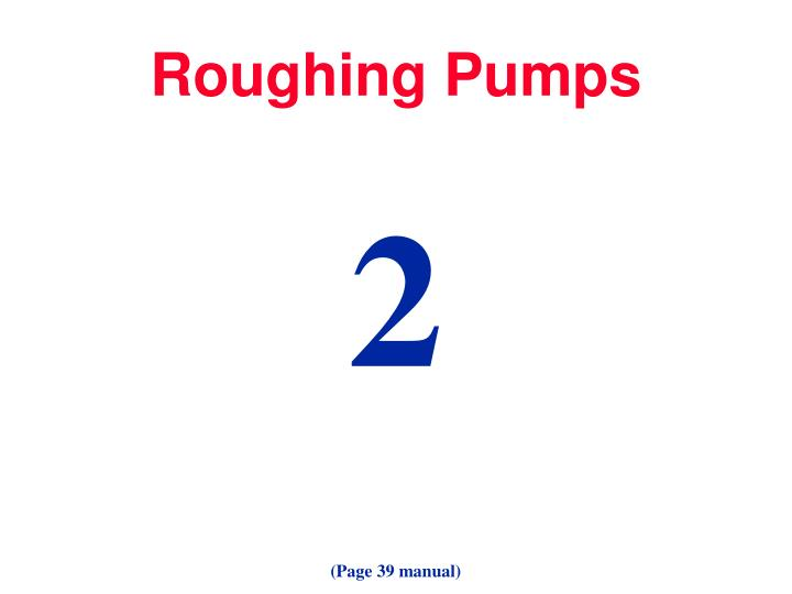 Roughing Pumps
