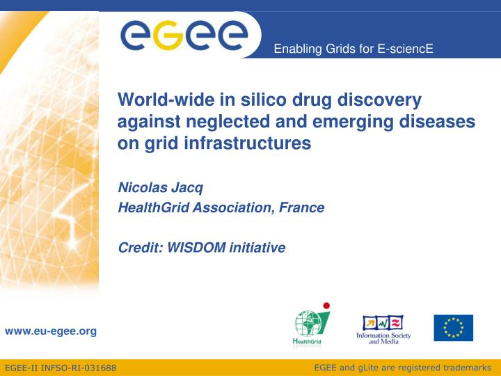 World wide in silico drug discovery against neglected and emerging diseases on grid infrastructures