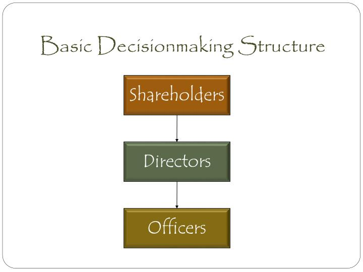 Basic Decisionmaking Structure