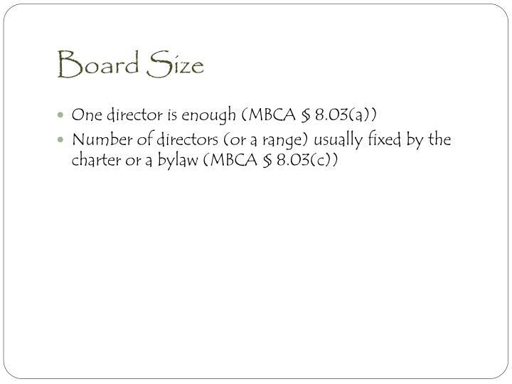 Board Size