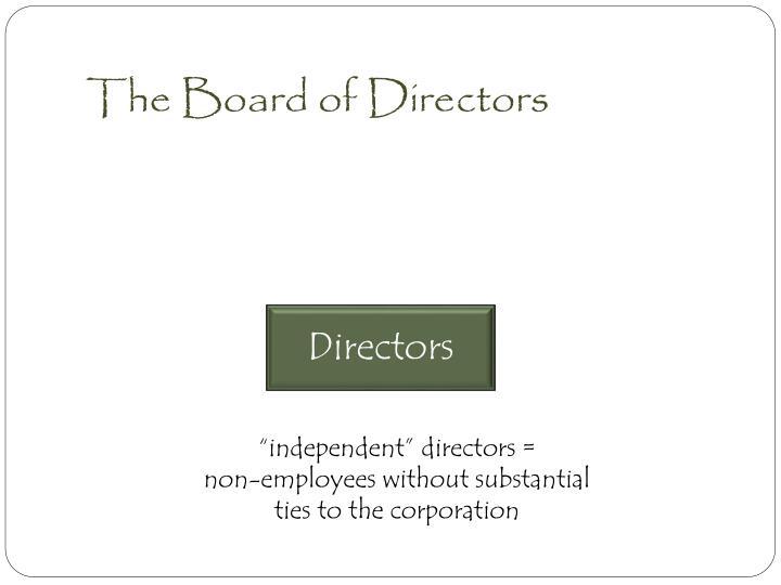 The Board of Directors
