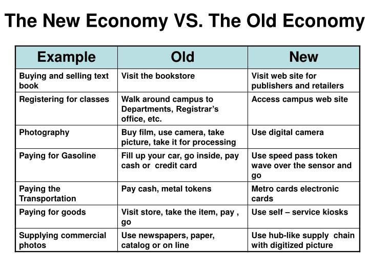 The New Economy VS. The Old Economy