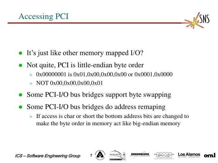 Accessing PCI