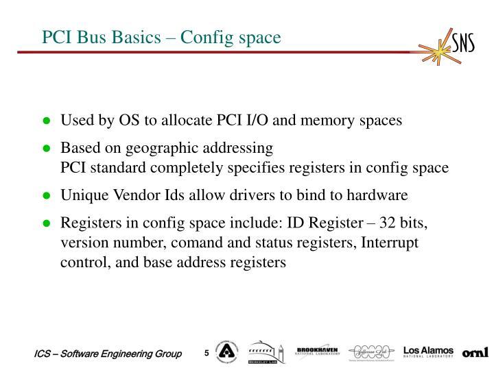 PCI Bus Basics – Config space