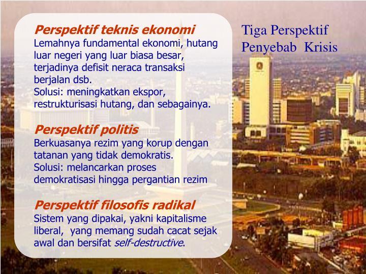 Perspektif teknis ekonomi
