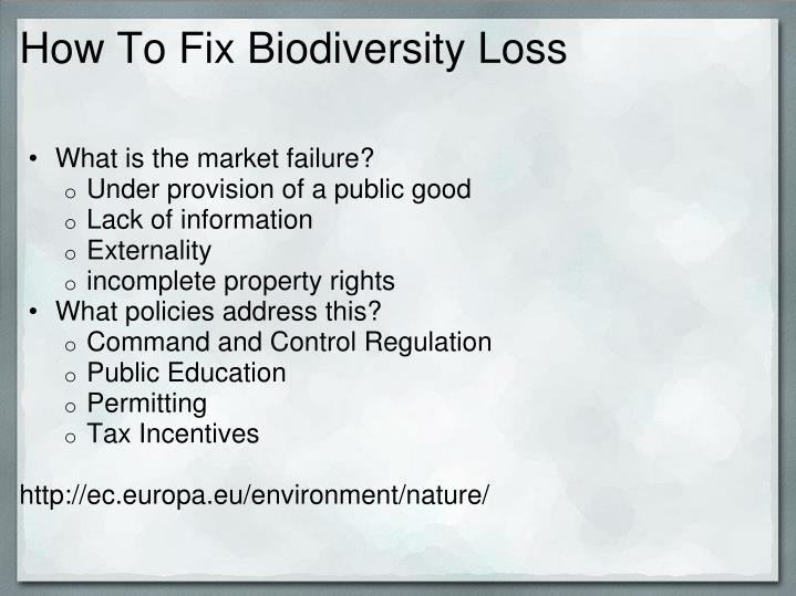 How To Fix Biodiversity Loss