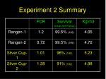 experiment 2 summary