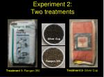 experiment 2 two treatments