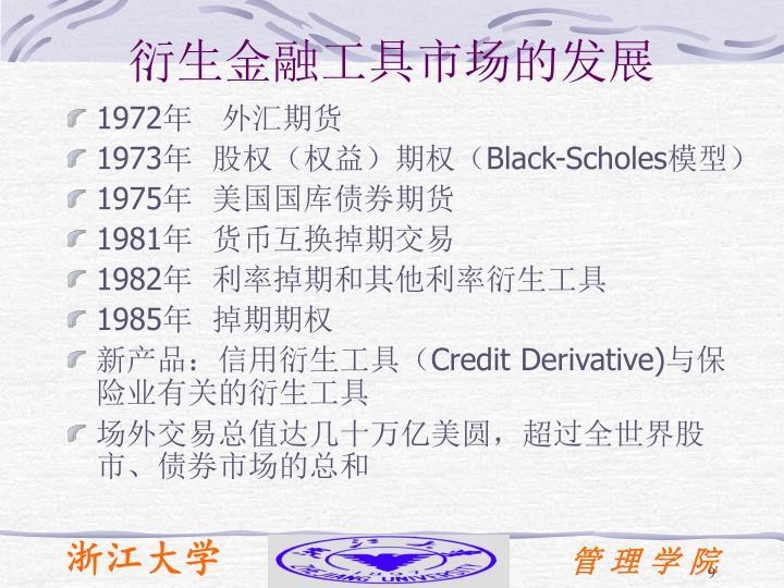 衍生金融工具市场的发展
