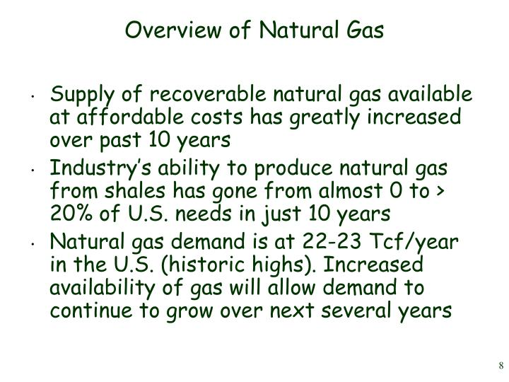 Overview of Natural Gas