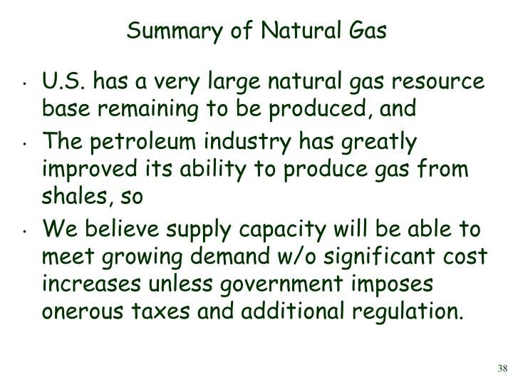 Summary of Natural Gas