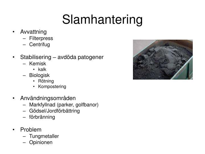 Slamhantering