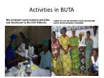 activities in buta8