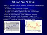 oil and gas outlook