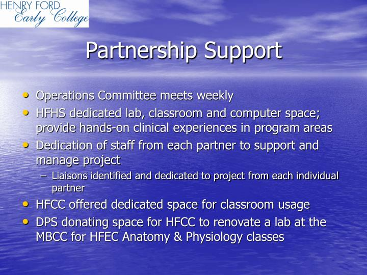 Partnership Support