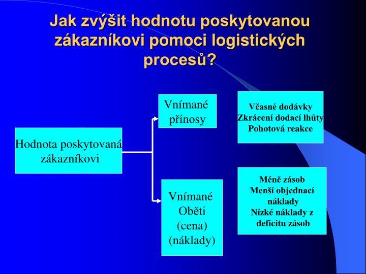 Jak zvit hodnotu poskytovanou zkaznkovi pomoci logistickch proces?
