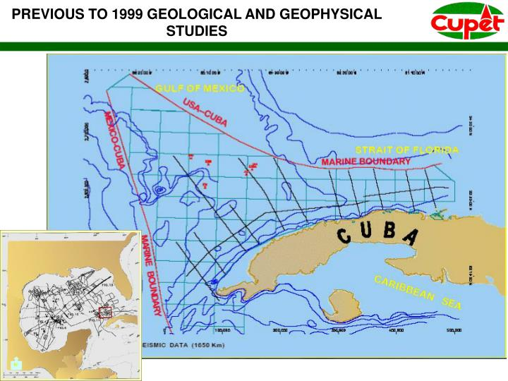 PREVIOUS TO 1999 GEOLOGICAL AND GEOPHYSICAL STUDIES