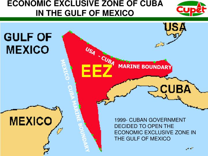 ECONOMIC EXCLUSIVE ZONE OF CUBA IN THE GULF OF MEXICO