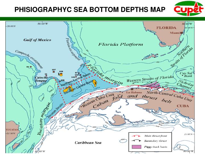 PHISIOGRAPHYC SEA BOTTOM DEPTHS MAP