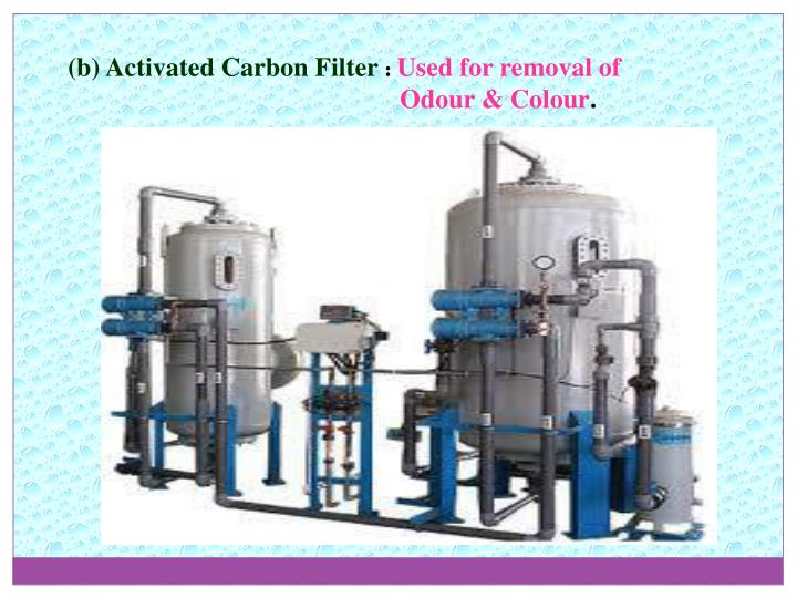 (b) Activated Carbon Filter