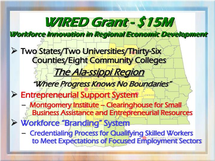 WIRED Grant - $15M
