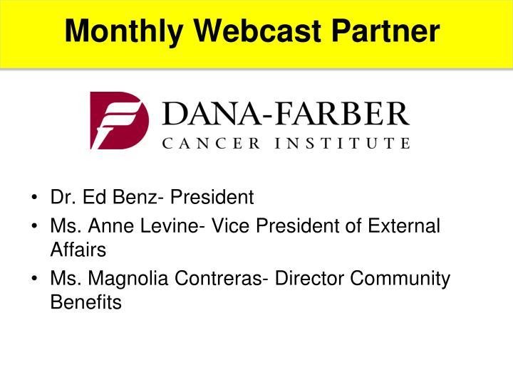 Monthly Webcast Partner