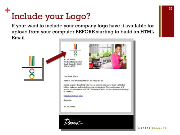 Include your Logo?