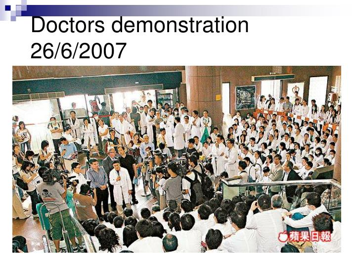 Doctors demonstration 26/6/2007