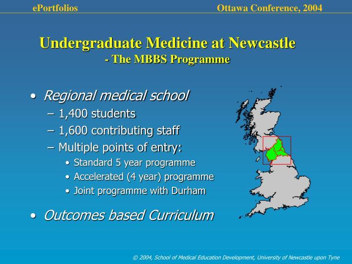 Undergraduate Medicine at Newcastle