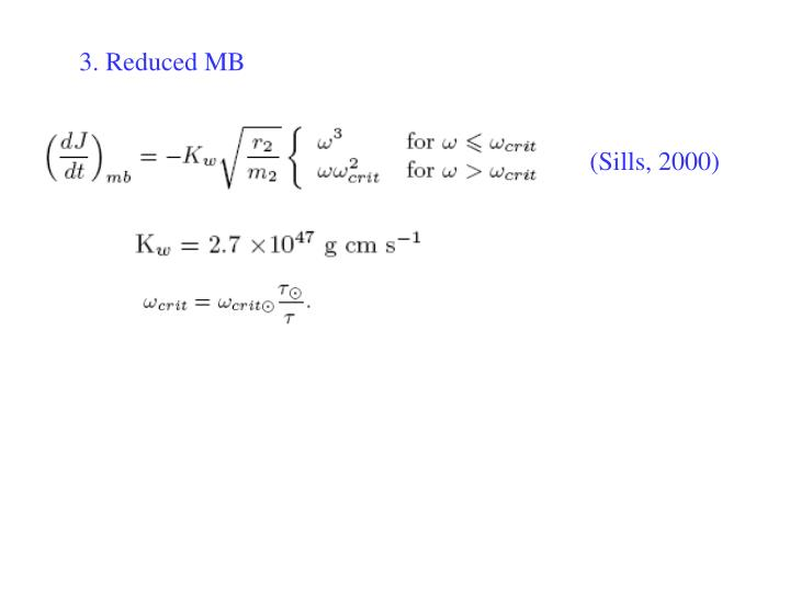 3. Reduced MB